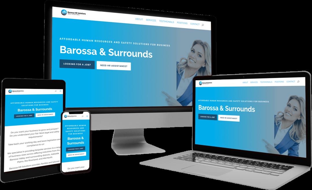 Barossa HR Solutions - website design and development